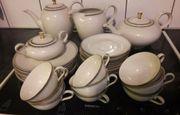 Tee- oder Kaffeeservice Porzellan 9-teilig