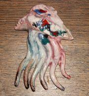 Muschel Ton mit farbiger Glasur
