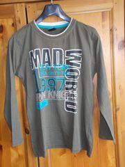 Jungen-Langarm-Shirt olivgrün Gr 158 164