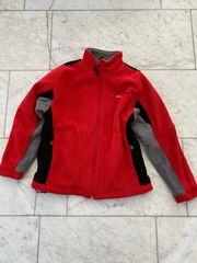 rote Fleece-Jacke winddicht Gr 152