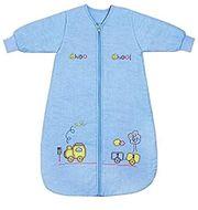 Schlummersack Ganzjahresschlummeschlafsack Langarm in blau