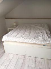 Doppelbett 160cm mit Lattenrost und