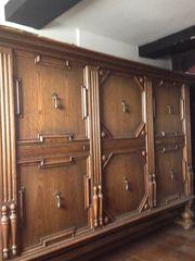 Eichen Schrank Antiquität 17 JH