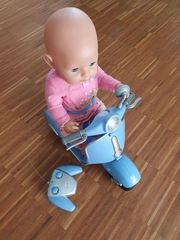 Baby Born Mädchen inkl Motorroller