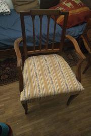 Antik Stuhl neu bezogen mit
