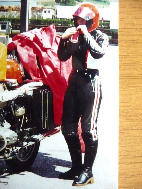 2 teilige Damen - Leder Motorradkombi