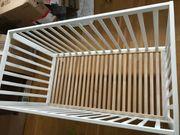 Babybett -Gitterbett Holz weiß 60cm