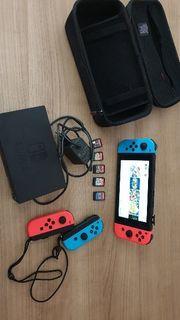 nintendo Switch mit 5 spiele