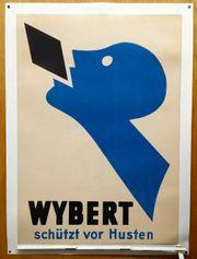 Original 1927 Reklame Plakat Wybert