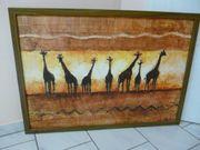 2 Bilder Motiv 7 Giraffen