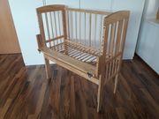 Baby-Beistellbett aus Holz inkl Matratze