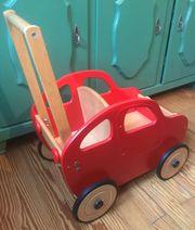 Lauflernwagen aus Holz mit Gummireifen