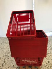 10x Einkaufskorb rot 20L 30x22
