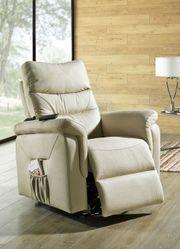Relaxsessel mit Aufstehhilfe beige Sessel