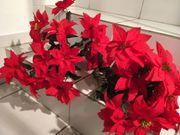 2 Große Weihnachtsterne Kunstblumen Stoffblumen