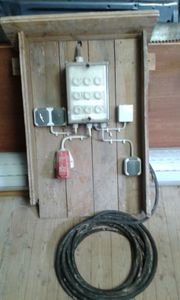 Baustromverteiler mit Anschlusskabel von Elektriker