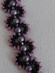 Armband lila töne Schmuck Perlen