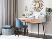 Schreibtisch weiß braun 120 x