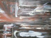 Abstrakt Acrylbild Darkness