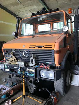 Unimog 1600 + Schneefräse VF3-ZW
