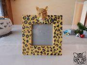 Süßer Bilderrahmen Leopardenmuster zum Aufstellen