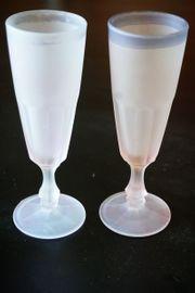 2 Sektgläse Mattglas
