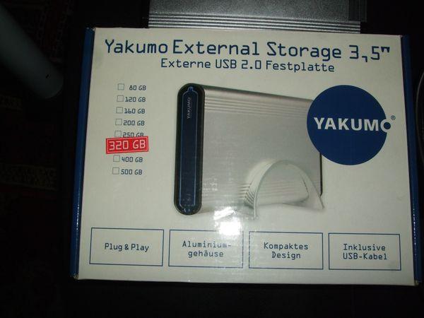 Externe Festplatte von Yakumo 320GB