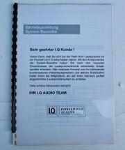 IQ Betriebsanleitung Lautsprecher Subwoofer 100