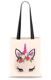 Schöne neue handbemalte Stoff-Einkaufstaschen Einhorn