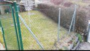 Verzinkter Zaun mit Gummierung kpl