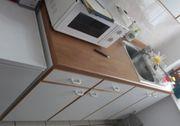 Einbauküche Schränke und Spüle in