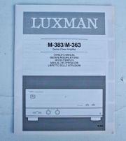 Luxman M 363 M 383