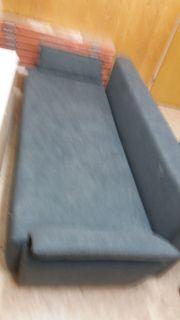 Sofa Schwarzgrau 3er