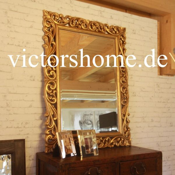 Wandspiegel Laura gold Holzrahmen wallmirror