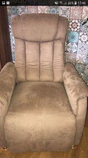 1 Fernseh Sessel m Fußstütze
