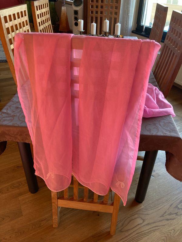 Schlaufenvorhänge rosa 2 Stk