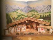 Holzkrippe handgemacht aus echtem Altholz