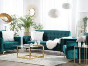 Sofa Set Samtstoff smaragdgrün ABERDEEN