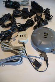 verschiedene Kabel Telefon- Audio- Video-