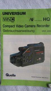 Video Camera Recorder VKR 2910