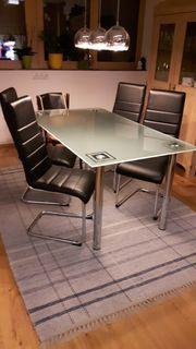 Esszimmertisch glas inkl 4 Stühle