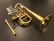 Lechner Piccolo Trompete NEUWERTIG vergoldet
