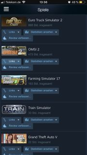 Steam-Account mit 8 Realismus spielen