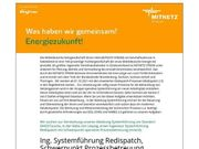 Ingenieur Systemführung Redispatch Schwerpunkt Prozessbetreuu
