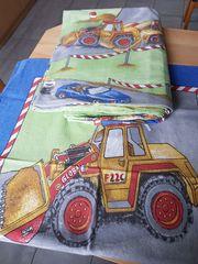 Kinderbettwäsche Baustelle - Bagger 135 x