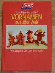 NEU - Buch Vornamen aus aller Welt