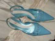Damenschuhe Leder Pumps Schuhe Blau