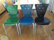 10 Holzstühle für Büro Praxis