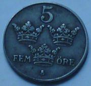 Münze Schweden 5 Öre 1944
