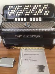Akkordeon Paolo Soprani B-Griff 120